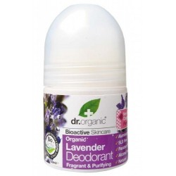 DR ORGANIC ORGANIC LAVENDER DEODORANT ROLL ON 50ML