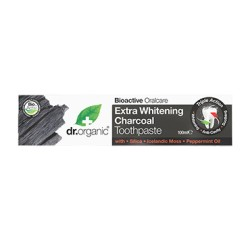 DR ORGANIC EXTRA WHITENING CHARCOAL TOOTHPASTE 100ML