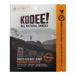 KOOEE GRASS FED BEEF JERKY SMOKED CHIPOTLE 30G