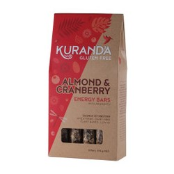 KURANDA GLUTEN FREE ALMOND AND CRANBERRY BARS 5PK 175G