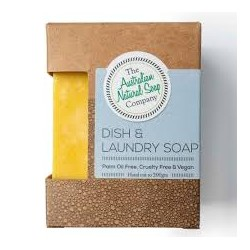 THE AUSTRALIAN NATURAL SOAP COMPANY DISH AND LAUNDRY SOAP BAR 200G