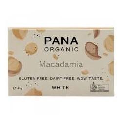 PANA ORGANIC WHITE CHOCOLATE MACADAMIA 45G