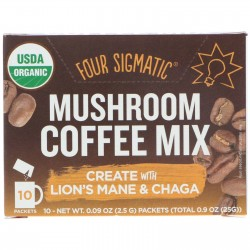 FOUR SIGMATIC MUSHROOM COFFEE MIX LION'S MANE & CHAGA 10 PACK