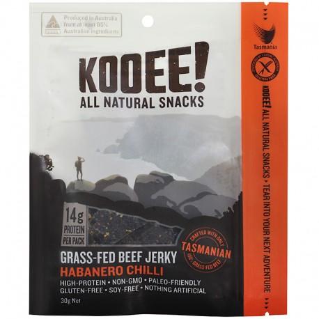 KOOEE! GRASS-FED BEEF JERKY HABANERO CHILLI 30G