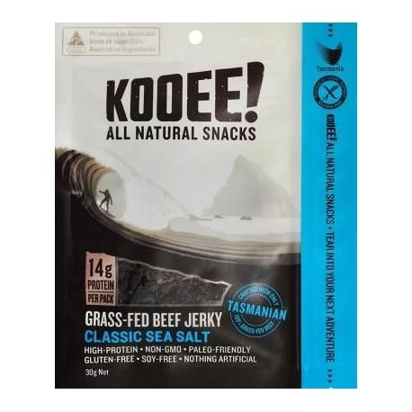 KOOEE! GRASS-FED BEEF JERKY CLASSIC SEA SALT 30G