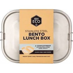 EVER ECO STAINLESS STEEL BENTO BOS 2 COMPARTMENT 1400ML