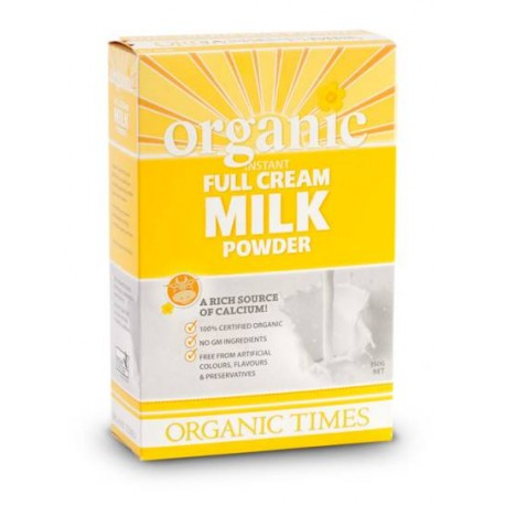 ORGANIC TIMES ORGANIC INSTANT FULL CREAM MILK POWDER 350G