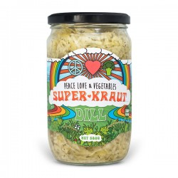 PEACE LOVE & VEGGIES DILL SAUERKRAUT 580G
