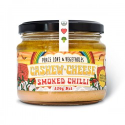 PEACE LOVE & VEGGIES SMOKED CHILLI CASHEW DIP 270G