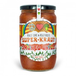 PEACE LOVE & VEGGIES SMOKED CHILLI SAUERKRAUT 635G