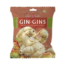 THE GINGER PEOPLE GIN GINS CHEWY GINGER APPLE CANDY 60G