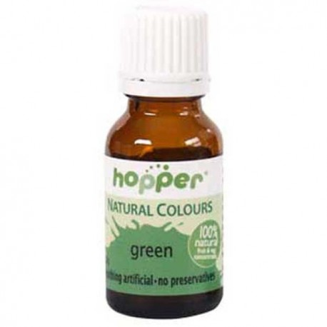 HOPPER NATURAL COLOURS GREEN FOOD COLOUR 20G