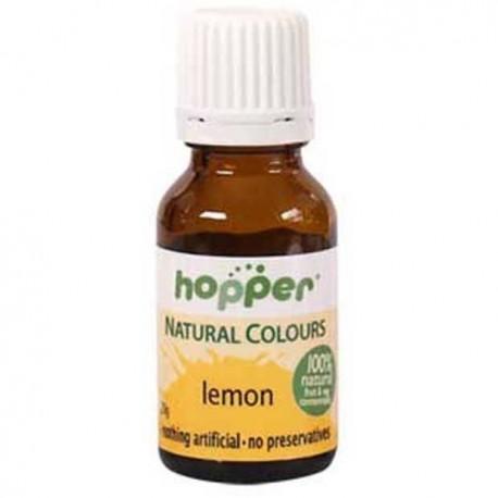 HOPPER NATURAL COLOURS LEMON FOOD COLOUR 20G