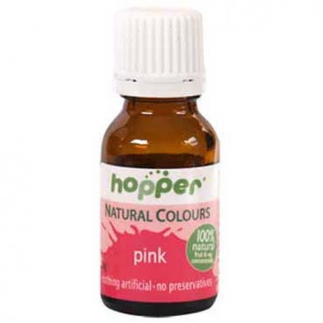 HOPPER NATURAL COLOURS PINK FOOD COLOUR 20G