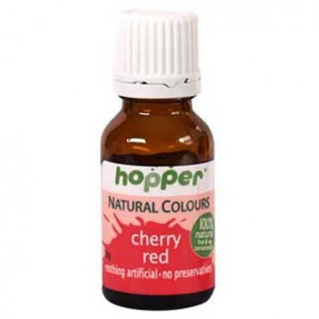 HOPPER NATURAL COLOURS CHERRY RED FOOD COLOUR 20G