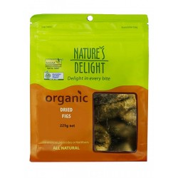 NATURES DELIGHT ORGANIC DRIED FIGS 225G