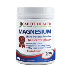 CABOT HEALTH MAGNESIUM ULTRA POTENT POWDER STRAWBERRY 200G