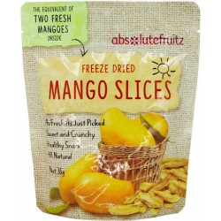 ABSOLUTEFRUITZ FREEZE DRIED MANGO SLICES 35G