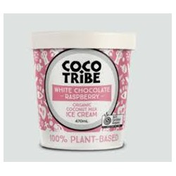 COCO TRIBE WHITE CHOCOLATE RASPBERRY COCONUT ICE CREAM 470ML