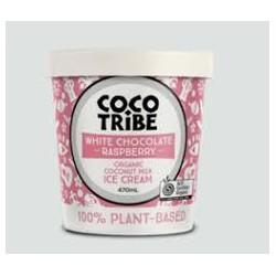 COCO TRIBE WHITE CHOCOLATE RASPBERRY COCONUT ICE CREAM 470ML