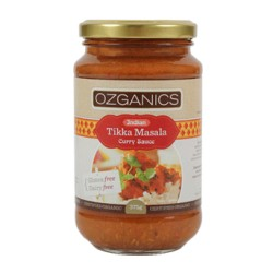 OZGANICS INDIAN TIKKA MASALA CURRY SAUCE 375G