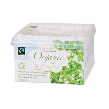 SIMPLY GENTLE ORGANIC BABY SAFE COTTON BUDS 56PK