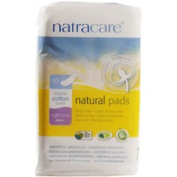 NATRACARE NIGHT TIME NATURAL PADS 10 PK