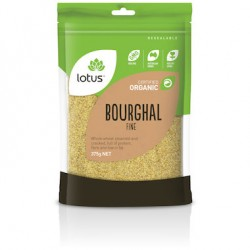 LOTUS CERTIFIED ORGANIC BOURGHAL FINE 375G
