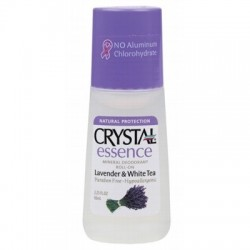CRYSTAL ESSENCE LAVENDER & WHITE TEA MINERAL DEODORANT ROLL ON