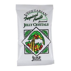 VEGETARIAN JELLY CRYSTALS TROPICAL FRUITS 85G