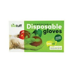 BIOTUFF COMPOSTABLE DISPOSABLE GLOVES MEDIUM 200PK