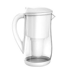 ECOBUD GENTOO GLASS WATER FILTER JUG 1.5L WHITE