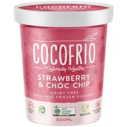 COCOFRIO STRAWBERRY CHOC CHIP COCONUT ICE CREAM 500ML