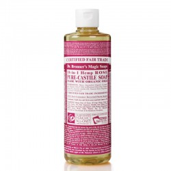 DR BRONNERS ROSE PURE-CASTILE SOAP 473ML