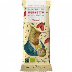 BENNETTO DARK CHOCOLATE COCONUT 30G