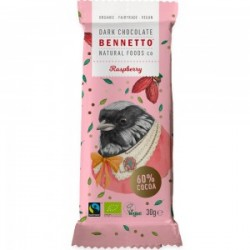 BENNETTO DARK CHOCOLATE RASPBERRY 30G