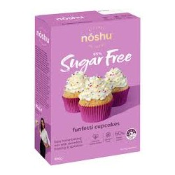 NOSHU FUNFETTI CUPCAKES NO SUGAR LOW CARB 350G