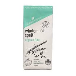 CERES ORGANICS WHOLEMEAL SPELT FLOUR HOME COMPOSTABLE PACKAGING 700G