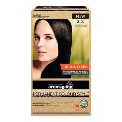 AROMAGANIC PERMANENT HAIR COLOUR DARK BROWN NATURAL 3N 50ML