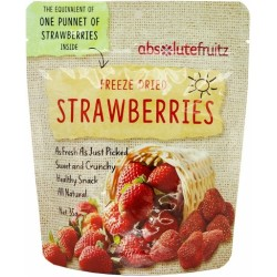 ABSOLUTE FRUITZ FREEZE DRIED STRAWBERRIES 35G