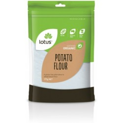 LOTUS ORGANIC POTATO FLOUR STARCH 375G