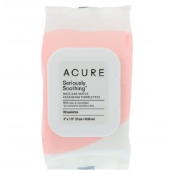 ACURE SERIOUSLY SOOTHING MICELLAR WATER CLEANSING TOWELETTES 30 PACK