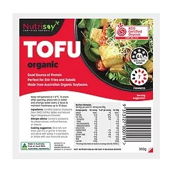 NUTRISOY ORGANIC TOFU 350G