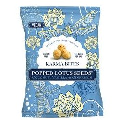 KARMA BITES POPPED LOTUS SEEDS COCONUT AND VANILLA 25G