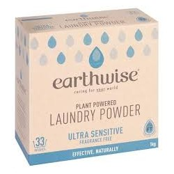 EARTHWISE FRAGRANCE FREE LAUNDRY POWDER 1KG
