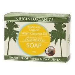 NIUGINI ORGANICS LEMONGRASS SOAP BAR 100G