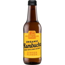 LOBROS ORGANIC KOMBUCHA GINGER & LEMON 330ML