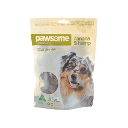 PAWSOME BANANA HEMP DOG TREATS 200G