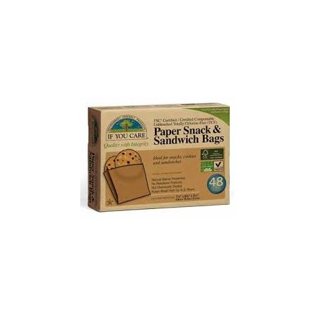 IF YOU CARE PAPER SNACK & SANDWICH BAGS 48PK