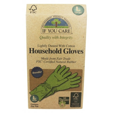 IF YOU CARE HOUSEHOLD GLOVES LRG